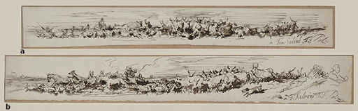 Filippo PALIZZI - Drawing-Watercolor - HERDS AND SHEPHERD