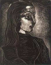 Pablo PICASSO (1881-1973) - Jacqueline de Profil droit III