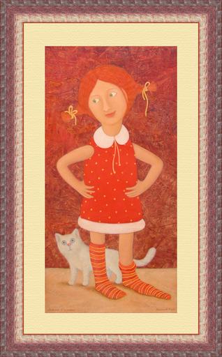Roman ANTONOV - Peinture - Girl in golfs