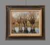 Pierre Eugène MONTEZIN - Gemälde - Arbres au bord de la rivière