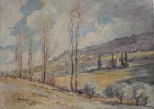 Louis LABRO-FONT - Painting - Route de Vinsobres