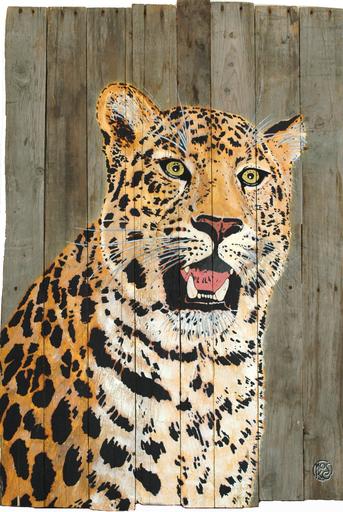 MOSKO - Peinture - Leopard De L'Amour