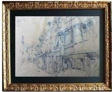 Léon Augustin LHERMITTE - Drawing-Watercolor - « Ruelle du vieux Tours »