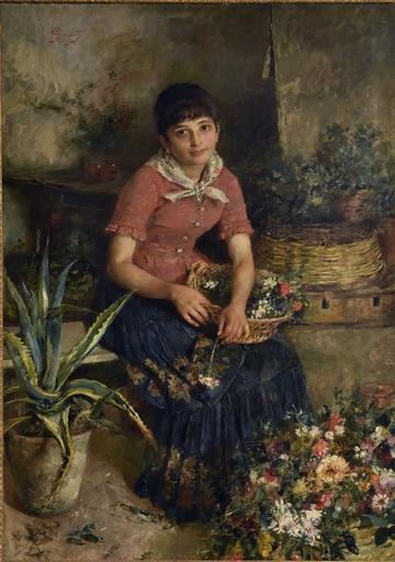 Anselmo GIANFANTI - Gemälde - Figura femminile