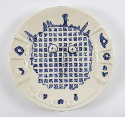Pablo PICASSO - Keramiken - Visage à la grille