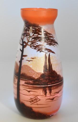 Joma – Vase paysage lacustre Art Déco