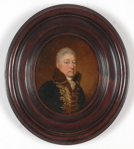"Josef ZIEGLER - Miniatura - ""Franz Joseph Count of Windisch-Graetz"", oil on copper, 1819"