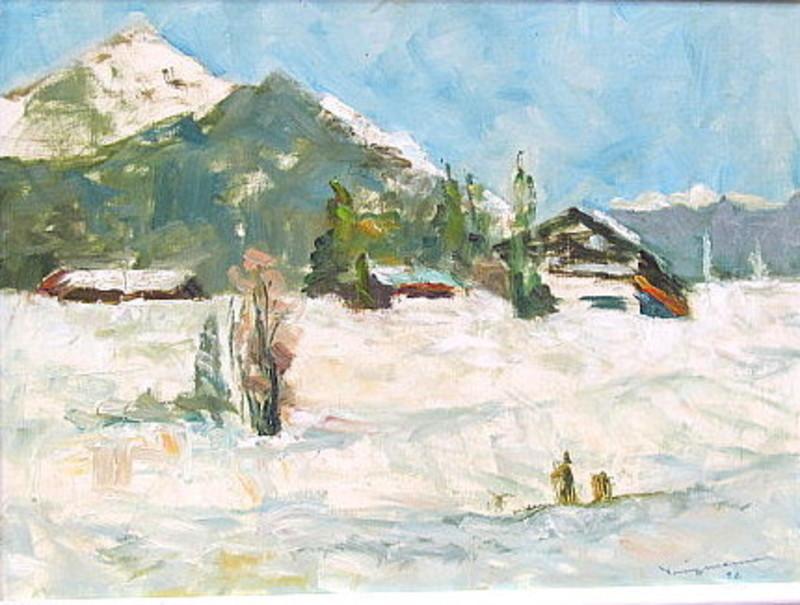 Walter BRÜGGMANN - Painting - Auf der Winklmoosalm (Austria )