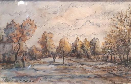 Paul Émile PISSARRO - Dibujo Acuarela