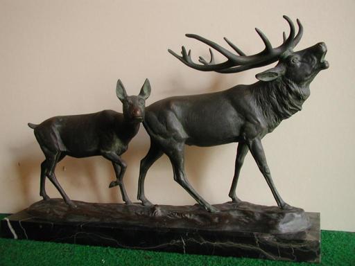 Otto SCHMIDT-HOFER - Sculpture-Volume - Hirschpaar