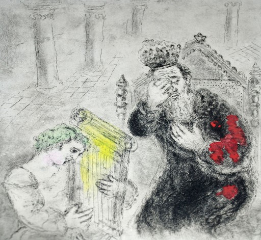 Marc CHAGALL - Grabado - Saul and David