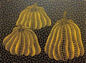 Yayoi KUSAMA - Stampa-Multiplo - Three Pumpkins