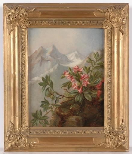 "Josef SCHUSTER - Pittura - ""Alpine Flowers"",by Joseph Schuster, Oil on Canvas"