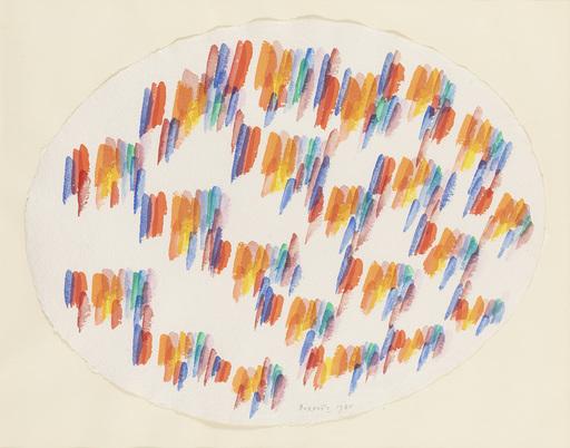Piero DORAZIO - Drawing-Watercolor - Abstract composition