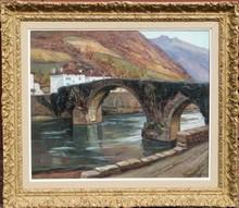 Jean RIGAUD - Painting - LE PONT DE BIDARRAY