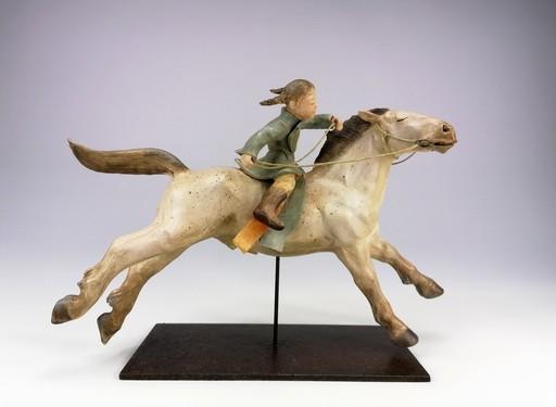Sandra COURLIVANT - Sculpture-Volume - Cavalière des steppes