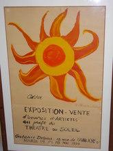Alexander CALDER (1898-1976) - Exposition  au profit du Théâtre du Soleil mai 1974