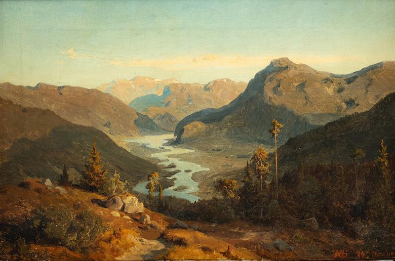 "Hans Fredrik GUDE - Pintura - ""from Hallingdal, Norway"""