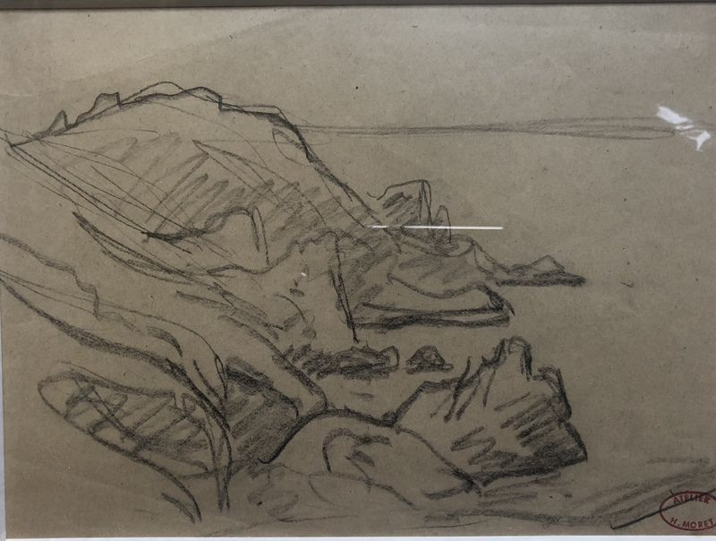 Henry MORET - Drawing-Watercolor - COTES ROCHEUSE EN BRETAGNE
