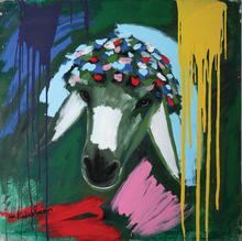 Menashe KADISHMAN - Painting - Sheep's Head