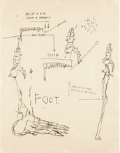 Jean-Michel BASQUIAT (1960-1988) - Leg of a Dog