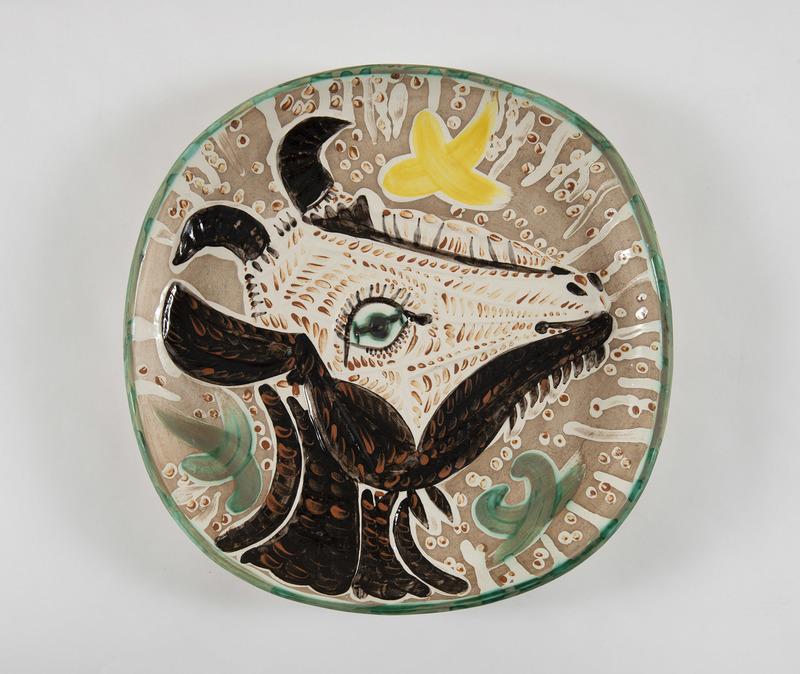 Pablo PICASSO - Ceramic - Tête de chèvre de profil (A.R.153)