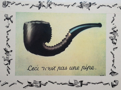 Pol BURY - Dibujo Acuarela - Ceci n'est pas une pipe