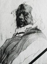 Claude WEISBUCH - Estampe-Multiple - « Portrait » Exemplaire XV/XX
