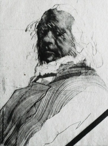 Claude WEISBUCH - Print-Multiple - « Portrait » Exemplaire XV/XX