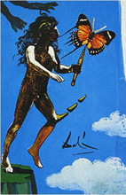 Salvador DALI - Disegno Acquarello - The Devil