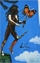 Salvador DALI - Dibujo Acuarela - The Devil