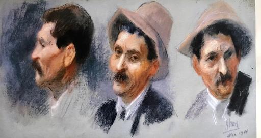 Jules CHÉRET - Painting - VISAGES