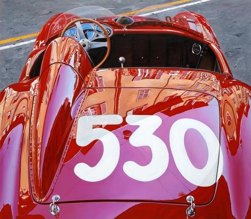 Enrico GHINATO - Gemälde - Ermini 357 sport 1955