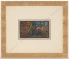 "Alfred WAAGNER - Dibujo Acuarela - ""Orpheus vor der Unterwelt"", watercolor, 1910s"