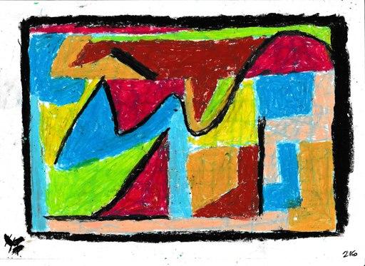 Harry BARTLETT FENNEY - Drawing-Watercolor - abstrait sur jardin  (1)