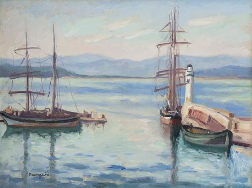 Henri MANGUIN - Gemälde - L'entrée du port de Saint-Tropez