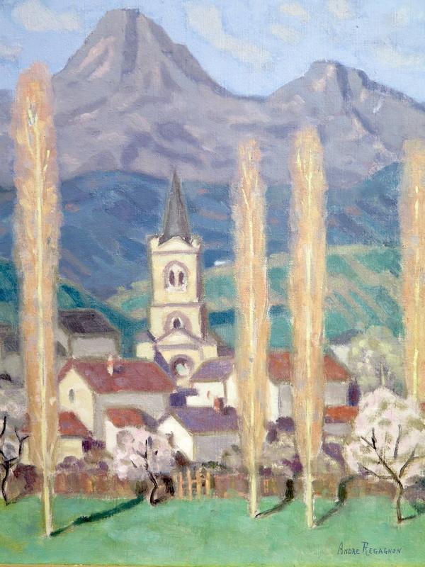 André REGAGNON - Painting - Village Ercée