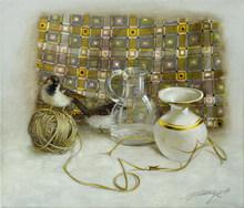 Tatjana PALCUKA - Painting - Still Life with Ant    (Cat N° 5433)