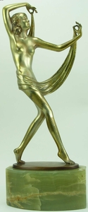 """Josef LORENZL - Skulptur Volumen - """"Scarf Dancer"""""""
