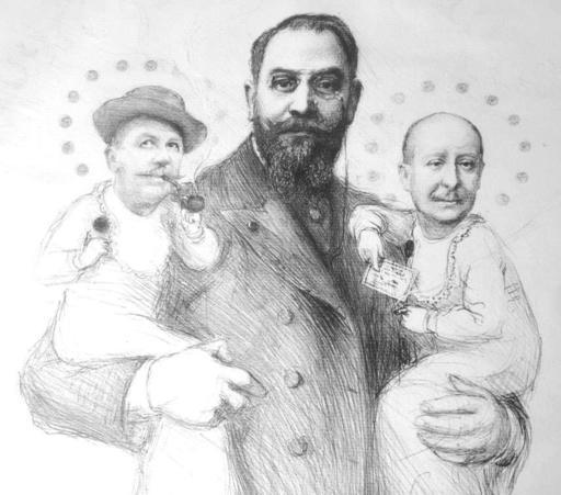 Emile Auguste CAROLUS-DURAN - Dibujo Acuarela - L'affaire DREYFUS