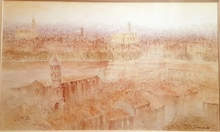 Jean-David SABAN - Drawing-Watercolor - Vue de Toulouse