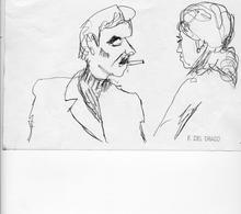 Francesco DEL DRAGO - Drawing-Watercolor - sujets divers