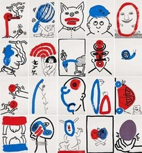 Keith HARING - Estampe-Multiple - The Story of Red and Blue