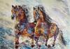 Diana MALIVANI - Peinture - They Who Run
