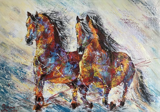 Diana MALIVANI - Pintura - They Who Run