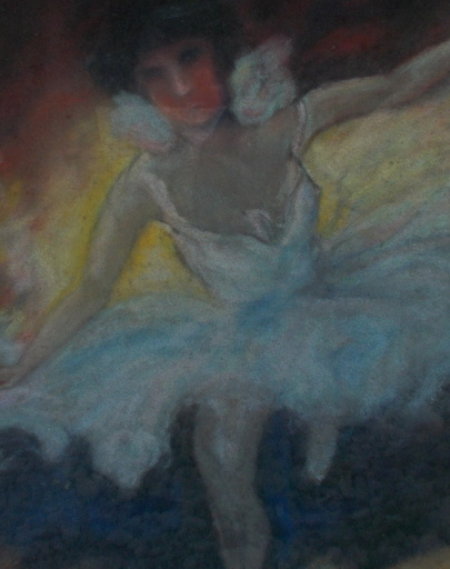 Louis FORTUNEY - Disegno Acquarello - La ballerine