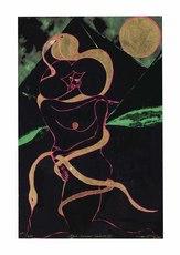 Chris OFILI - Grabado - Afro Lunar Lovers II