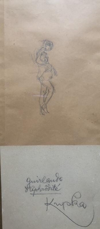 Frantisek KUPKA - Drawing-Watercolor - LA GUIRLANDE D APHRODITE