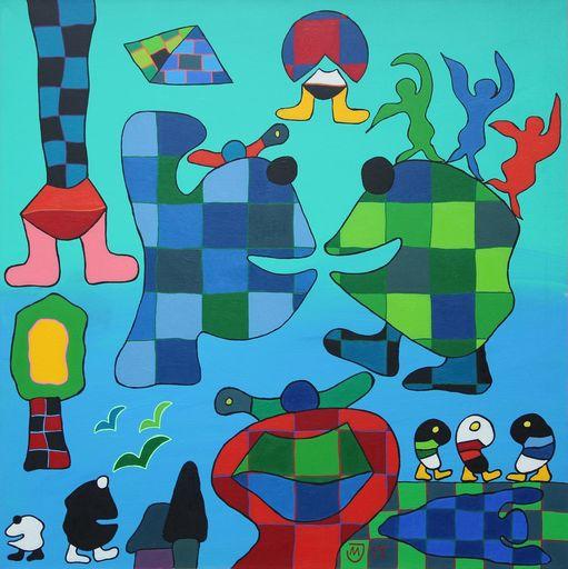 Michael JANSEN - Painting - Anziehung