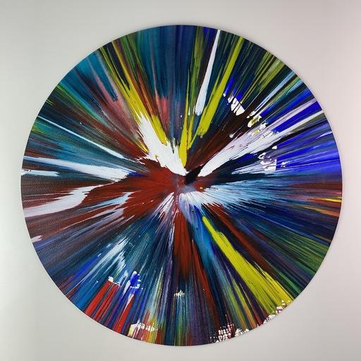 Damien HIRST - Zeichnung Aquarell - CIRCLE SPIN
